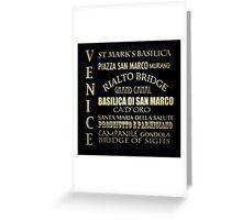 Venice Famous Landmarks Greeting Card