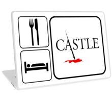 Food Sleep Castle Laptop Skin