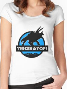 Jurassic World: Triceratops Women's Fitted Scoop T-Shirt