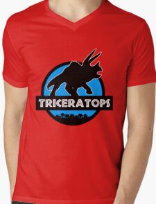 Jurassic World: Triceratops Mens V-Neck T-Shirt