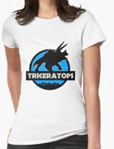 Jurassic World: Triceratops Womens Fitted T-Shirt