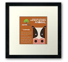 Save Cows Framed Print