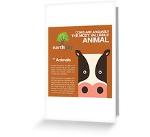 Save Cows Greeting Card