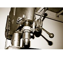 Old Drill Press Photographic Print