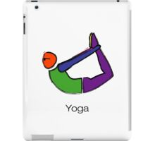 Painting of bow yoga pose with yoga text. iPad Case/Skin