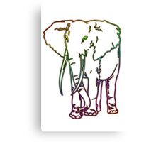 Rainbow Elephant Design Canvas Print