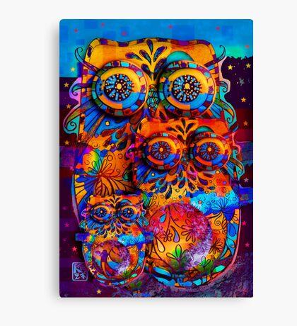 Radiant Owls  Canvas Print