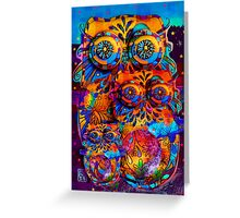 Radiant Owls  Greeting Card