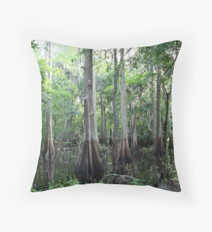 Cypress Swamp Throw Pillow