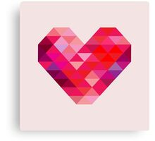 Prism Heart Canvas Print