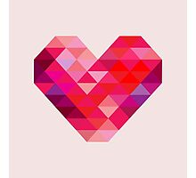 Prism Heart Photographic Print
