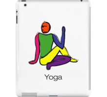Painting - half lord of the fishes & yoga text. iPad Case/Skin