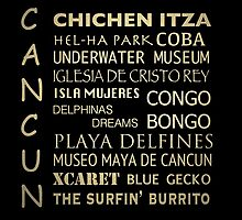 Cancun Famous Landmarks by Patricia Lintner