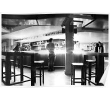 waiting at the spaceship bar Poster