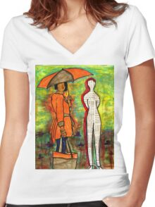 WE Can ENDURE All Kinds of Weather Women's Fitted V-Neck T-Shirt