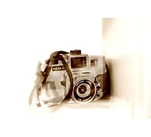 sepia olga the holga Photographic Print