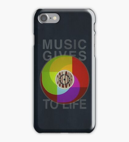 Music Gives Colour To Life iPhone Case/Skin