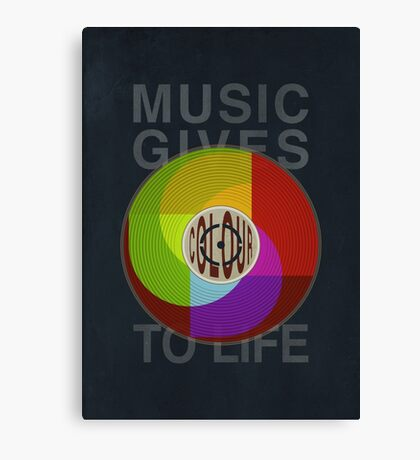 Music Gives Colour To Life Canvas Print