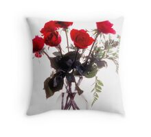 Roses in High Key Throw Pillow