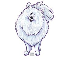 Animal Parade White Pomeranian by ImagineThatNYC