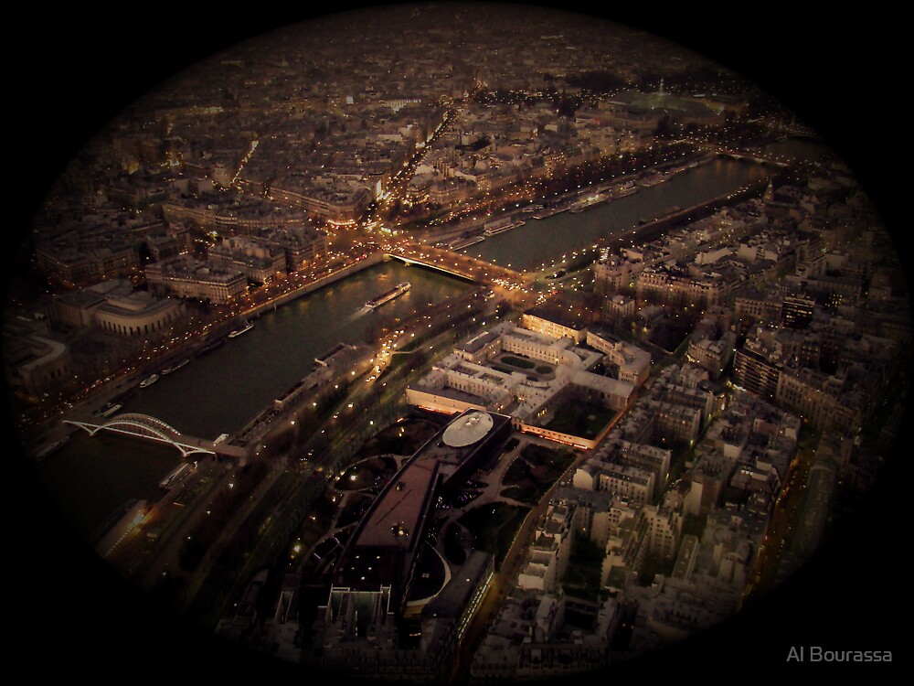 The Seine from the Eiffel by Al Bourassa