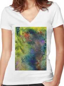 A Friend I Know Lives Here Women's Fitted V-Neck T-Shirt