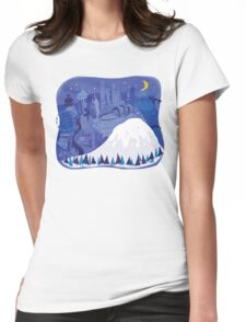 Seattle Cityscape with Mt. Rainier by Wendy Wahman Womens Fitted T-Shirt