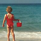 Girl with Red Bucket by Kent Nickell