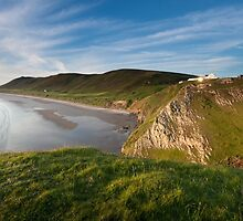Rhossili bay Gower by leightoncollins