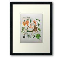boys as plants (2) Framed Print
