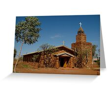 Balgo Hills Stone Church,Tannami Track,WA Greeting Card