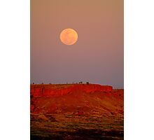 Balgo Hills Moon Rise,WA Photographic Print