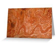 Aboriginal Rock Art,Balgo Hills.WA. Greeting Card