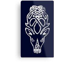 Skyrim Distressed Falkreath Logo Metal Print