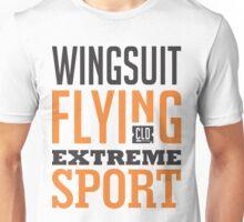 Wingsuit Flying Extreme Sport Graphic Art Unisex T-Shirt