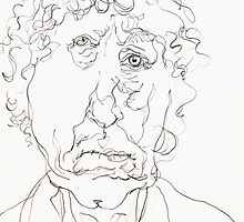 Brett Whiteley Sketch by Stephen Gorton