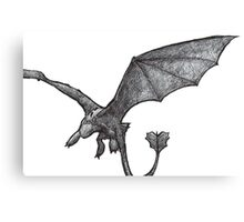 Toothless Sketch Canvas Print