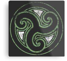 Skyrim Distressed Morthal Logo Metal Print