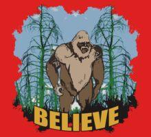 Believe in Bigfoot 2 One Piece - Short Sleeve