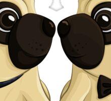 Groom Pugs Sticker