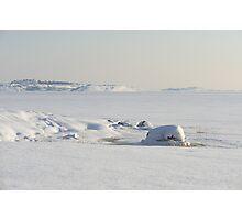 Snow covered coast Photographic Print