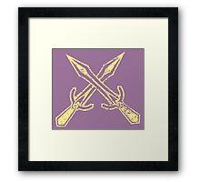 Skyrim Distressed Riften Logo Framed Print