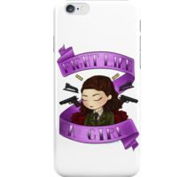 peggy says i am no man iPhone Case/Skin