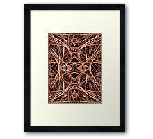 Pine Straw Kaleidoscope Framed Print