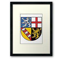 Saarland coat of arms Framed Print