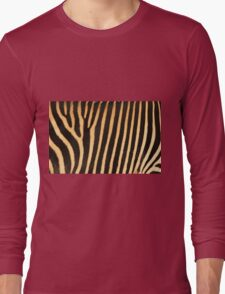 Grevy Zebra Design Long Sleeve T-Shirt