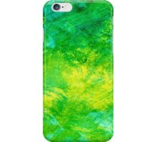 Abstract Spring Colors bright yellow, vivid green, & light blue iPhone Case/Skin