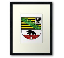 Saxony coat of arms Framed Print