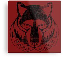 Skyrim Distressed Solitude Logo Metal Print