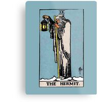 The Hermit Tarot Card  Metal Print